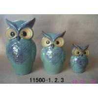 Buy cheap Assorted 3 Ceramic Owls Figurine for Home Decoration from wholesalers