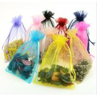 Buy cheap Colors Wedding Favor Logo Promotional Organza Gift Bag White Wholesale Custom Printed Large Organza Bag from wholesalers