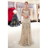 Buy cheap Gold Color Adults Ladies Evening Dresses , Breathe Freely Womens Evening Gowns from wholesalers
