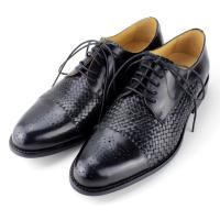 Buy cheap High quality men black leather shoes.europe designer men shoes 2014 woven men handmade shoes from wholesalers