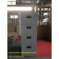Buy cheap 2/3/4 drawer Steel Filing Safe Cabinets gray coloe plastic handle anti-tilt device from wholesalers