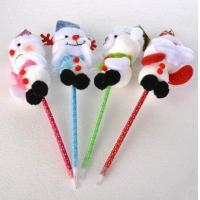 Buy cheap Christmas gift Santa Claus, snowman pen Big head doll ballpoint pen Interesting gifts for children from wholesalers