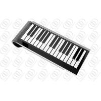 Buy cheap Piano Keyboard Designer Money Clips Women With Black and White Enamel from wholesalers
