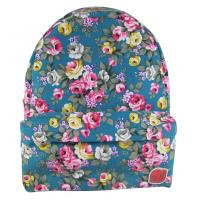 Buy cheap Canvas Fashionable School Bags Girls Rucksacks Handbags For Teens Floral Skyblue product