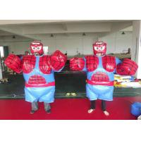 Buy cheap Eye Catching Sumo Wrestler Halloween Costume , Spiderman Inflatable Sumo Costume from wholesalers