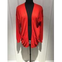 Anti Shrink Red Cardigan Sweater , Open Cardigan Sweater Womens