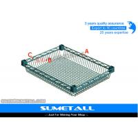 Buy cheap Adjustable Wire Basket Shelves Chrome Wire Shelving for Home / Industrial from wholesalers