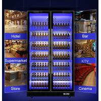 Buy cheap Full Glasses Door Commercial Upright Chiller For Wine / Bear / Soft Drink Display Cooler from wholesalers