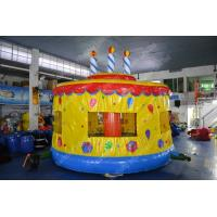 Buy cheap Custom inflatable outdoor toys bounce castle Cake With Jumping house For Kids from wholesalers