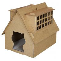 Buy cheap cardboard cat scratcher cat house with scratchers folding cat house from wholesalers
