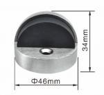 Buy cheap High Feet Ball Type Zamak Interior Door Stops Half Round Door Stopper from wholesalers