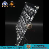 Buy cheap 40mm Diameter Display Board Casino Chips Acrylic Horizontal Section Carrier Thickened Refined 20pcs from wholesalers