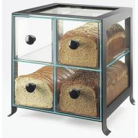 Buy cheap Black Frame Acrylic Bakery Display Case With Four Compartment product