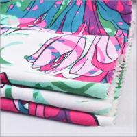 Buy cheap Rusha Textile Single Jersey Knitted 95% Viscose 5% Spandex Floral Printed Spun Rayon Fabric for Women Clothes from wholesalers