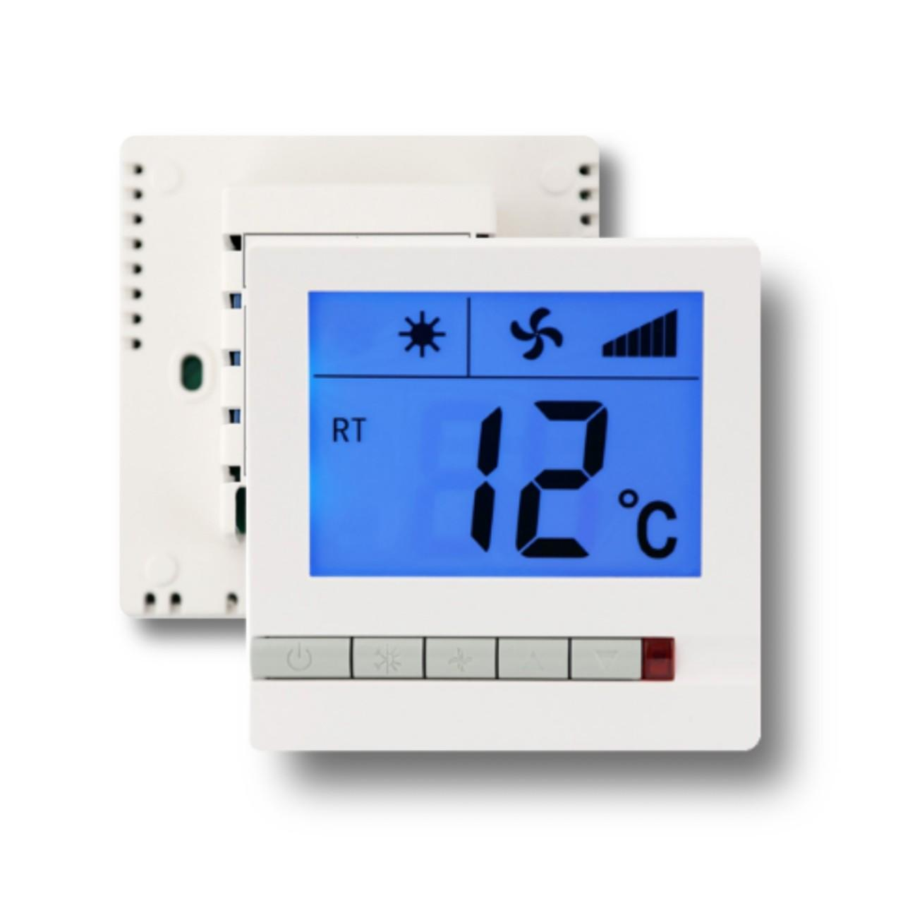 Buy cheap 230V 3 Speed Digital Electric Room Thermostat For Fan Coil Units White Color from wholesalers