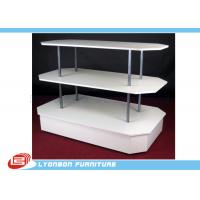 Buy cheap Three Plates Metal Tube Wooden Kiosk For Product Selling MDF Display from wholesalers