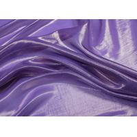 Buy cheap Smooth Purple Silver Metallic Fabric 100% Silk With Woven Technic from wholesalers