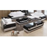 Buy cheap Modern office sofa set leather office sofa furniture with wooden frame from wholesalers