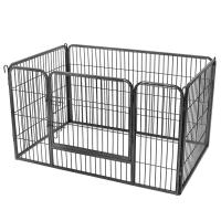 China Iron Metal Dog Cage 3.8X14 Cm Mesh Opening Rust Proof Robust Structure on sale