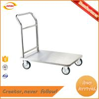 Buy cheap cargo wheel hand barrow with heavy duty platform luggage cart Kunda A-012 from wholesalers
