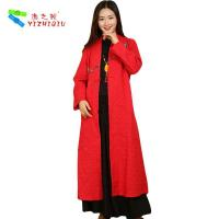 Buy cheap 100% Cotton Long Chinese Coat , Soft Women Custom Embroidered Winter Jackets from wholesalers
