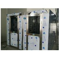 Quality HEPA Filtered Stainless Steel Cleanroom Air Shower Channel , PLC Control System for sale