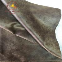Buy cheap 2019 new design bronzing faux suede leather fabric for sofa from wholesalers
