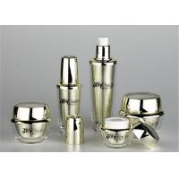The inner bold gold shell is transparent and covered with a metallic color Empty Makeup Containers