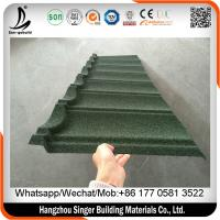 Buy cheap Galvanized corrugated steel roofing sheets, sun stone chips metal roofing materials for house from wholesalers
