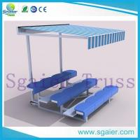 Buy cheap Factory high   quality aluimum outdoor beach portable bleachers with top cover from wholesalers