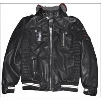 Buy cheap winter Black / Coffee, Size 46, Size 48 M L Bomber Mens PU Leather Jacket with Hood product