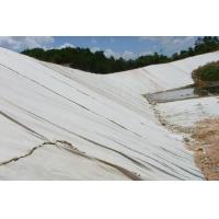 Buy cheap 600g PET long fiber white continuous filament nonwoven geotextile for construction from wholesalers