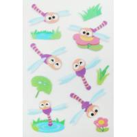 Top quality 3D Lovely Animal Dragonfly Clear Puffy Stickers / Stickers For Book for sale