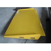 Buy cheap Yellow Mobile Hydraulic Loading Ramp Q235B Material 100 ~ 150 Mm Adjust Range from wholesalers