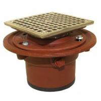 Buy cheap 1100-4TY Cast Iron Floor Drain Body with 4 Push On Outlet with Integral clamping Collar and 1/2 Trap Primer Tapping from wholesalers