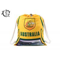 Buy cheap Australia Soccer Rucksack Printed Drawstring Backpack Gym With Cotton Ropes from wholesalers