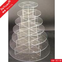Buy cheap Clear Acrylic Cake Stand  Eco - friendly For Home Birthday Celebrtaion Party from wholesalers