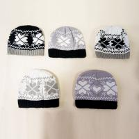 Buy cheap 2017 New Style High Quality Acrylic Winter Jacquard snowflake heart pattern Knitted Hat Led Winter Beanie Hat from wholesalers