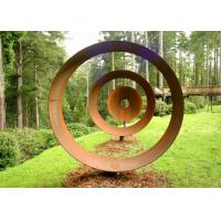 Buy cheap Laser Cut Rusty Outdoor Corten Steel Sculpture For Garden Decoration Circle Shape product