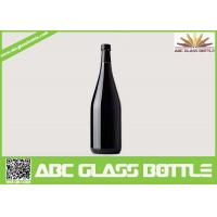 Buy cheap wholesale 750ml black glass wine bottle with cork from wholesalers