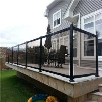 Buy cheap main gate railing balcony balustrades garden decoration deck balustrade with glass from wholesalers