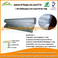 Buy cheap Aluminum foil fiberglass cloth coated PE film for rock wool from wholesalers