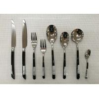 Buy cheap Stainless Steel Flatware Sets of 13 Pieces Black-Plated Handles Knives Forks Spoons from wholesalers