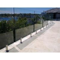 Buy cheap Glass pool fence spigot balcony glass fence from wholesalers