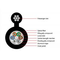 Buy cheap Outdoor Figure 8 Armoured self-supporting Optical Fiber Cable Multitube optical fiber cable--GYTC8A product