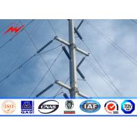 Buy cheap 132kv Octagonal  Electrical Galvanized Steel Telescopic Pole AWS D1.1 For Power Line Project from wholesalers