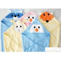 300gsm Personalized Hooded Baby Towels Animals Pattern For Beach / Bath