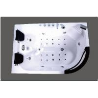 Buy cheap Luxury Left Arc Shape 2 Person Corner Whirlpool Bathtub With Air Jets Massage from wholesalers