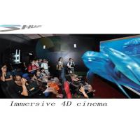 Buy cheap 4D Movie Theater With Motion Chair Seat, Special Effect System, Flat / Arc Screen product