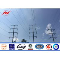 Buy cheap 10m-20m Galvanised Steel Power Poles / Electric Transmission Line Poles Round Shape from wholesalers